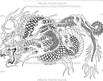 Illustration Asian Dragon