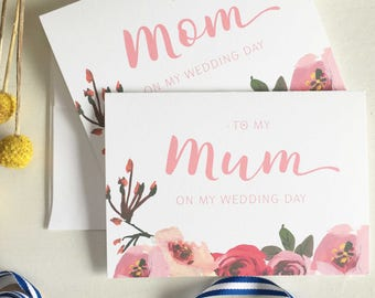 To My Mother On My Wedding Day, Mom Gift Wedding, Mom Of Bride Gift, Mum Gift, Wedding Card for Mum, Mother of the Bride Card, Mom Gift