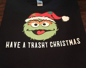 Oscar the Grouch Sesame Street Christmas Short Toddler, Youth & Adult Size