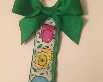 "Ribbon Wrist lanyard- ""Fiona and Friends"""