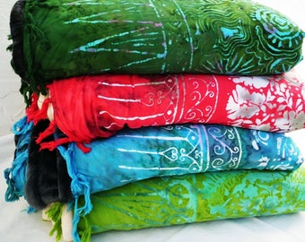 Four Yoga Blankets colors