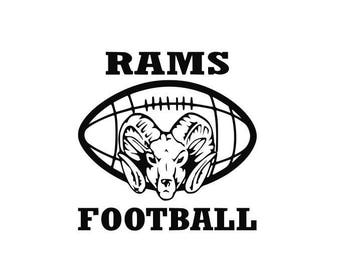 Rams Football high school college SVG File Cutting, DXF, EPS design, cutting files for Silhouette Studio and Cricut Design space
