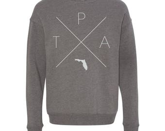 Tampa Sweatshirt - TPA Home Sweater, Florida Off Shoulder Sweatshirt