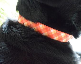 Orange Plaid Collar