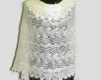 warm Scarf, Knitted scarf, long knit scarf, women's knit scarf, warm gift, gift for women,goat down scarf, christmas gift, white scarf