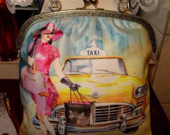 Mpde Iron bag leather handbag bag 50s