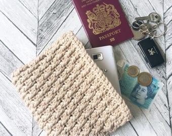 Clutch bag/ Crochet clutch bag pattern/ Handmade wedding clutch bag/ Crochet wedding purse/ Crochet travel wallet/ Crochet handbag pattern