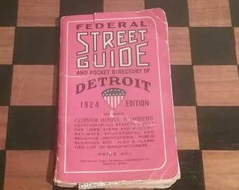 1924 Federal Street Guide and Pocket Directory of Detroit, brought to you by UsefulRetro!