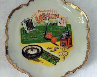 Vintage Fabulous Las Vegas Decorative Souvenir Plate