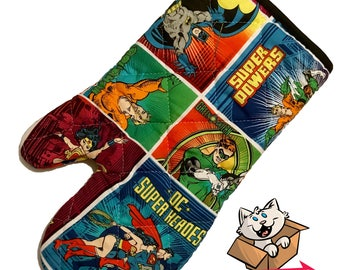Justice League Characters Oven Mitt
