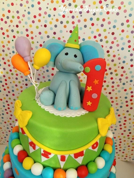 Fondant Edible 3d Elephant Figure Circus Cake Topper Cupcake Age