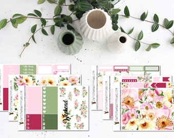 Wild Rose || Weekly Planner Kit (175+ Stickers) || Erin Condren, Happy Planner, Recollections || SeattlekangarooPlans