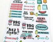 Summer Vacation Planner Stickers