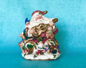Vintage Hand-painted Santa Cookie Jar