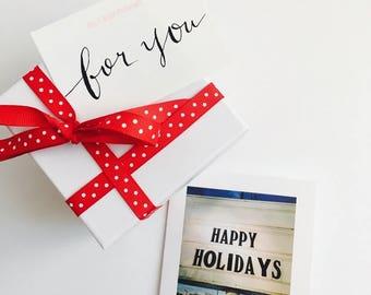 "Holiday/Christmas Greeting Card ""Happy Holidays"