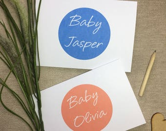 Personalised New Baby Card - New Baby Card - Baby Shower Card - Card for New Baby