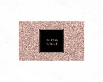 Luxury Glitter Business card design, Makeup artist business card