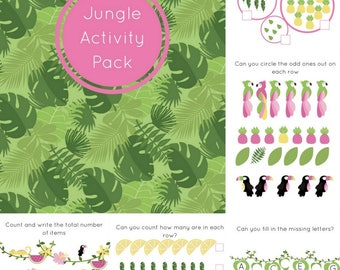 Educational printables , Jungle kids games Worksheets Activities
