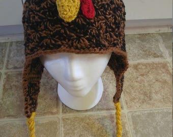 Crochet Chicken Hat - Custom Colors
