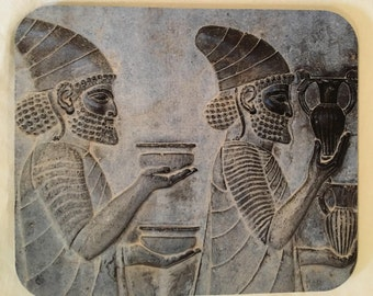 Photo Transferred Mousepad Depicting an Ancient Relief from Persepolis Near Shiraz, Iran, SKU#7014