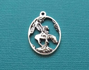 5 End of the Trail Charms Silver Native American on Horse Charm - CS2124