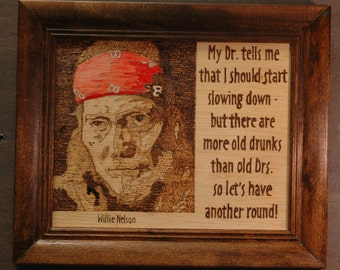 Willie Nelson - portrait and quote