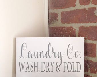 Large Laundry Room Signs Delectable Laundry Company Sign  Etsy Design Decoration