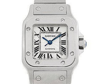 Cartier Santos Galbee Ladies Stainless Steel Automatic Watch 2423