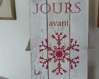 Panneau en bois pour Noel. Décoration de Noêl. Décoration personnalisée.
