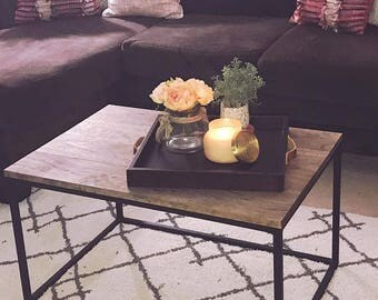 Steel Framed Coffee Table