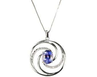 Circle Tanzanite Necklace