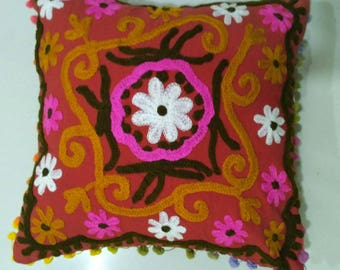 Cushion covers suzani, hand made embroidered cushion covers, Turkish decor, colorful pillow cases, home decor