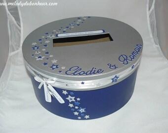 Urn wedding theme-star spangled silver Midnight Blue