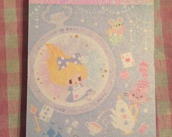 Q-lia Little Fairy Tale kawaii mini memo pad Alice in Wonderland