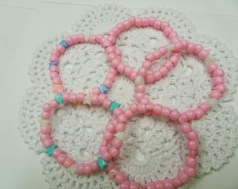 5-Piece Pink Candy Bracelet Set