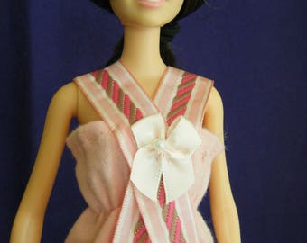 Barbie Pink Nightgown, barbie nightgown, barbie clothes, barbie doll clothes, barbie sleepwear, fashion doll nightgown, fashion doll clothes