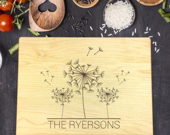 Personalized Cutting Board, Engraved Cutting Board, Custom Cutting Board, Wedding Gift, Couples Gift, Gift for Her, Gift for Him, B-0073