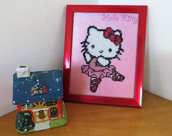 Cute Hello Kitty Embroided with Beads
