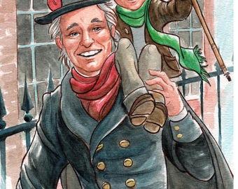 A Christmas Carol Christmas card