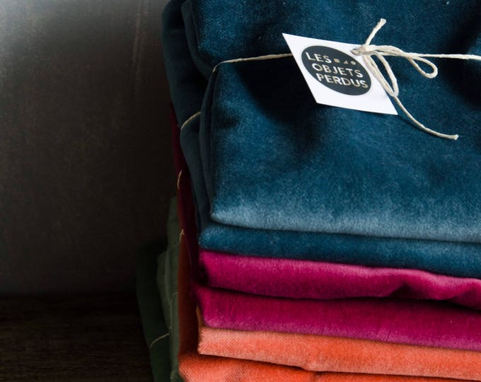 Velvet decorative cushion cover, many sizes and colours available