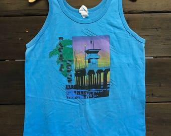 1980's 80's Pacific Scene Malibu Tank Top