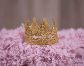 Gender neutral prince or princess crown, photoprop, cake topper, crown headband