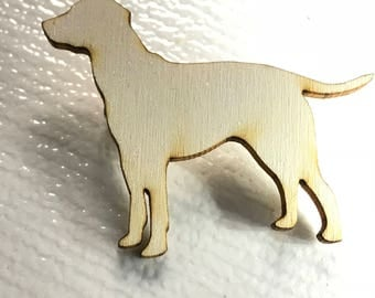 Wooden Labrador dog silhouette brooch pin in birch ply, gift for dog lover, labrador pin, dog pin,