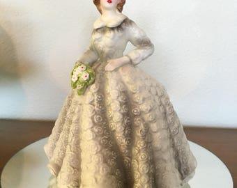 Vintage Porcelain Lady Figurine Vase