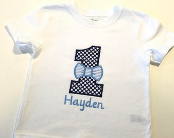 Personalized Birthday Shirt, Embroidered Birthday Shirt, Bow Tie Shirt, Personalized Bow Tie Birthday Shirt, Bow Tie Birthday Shirt