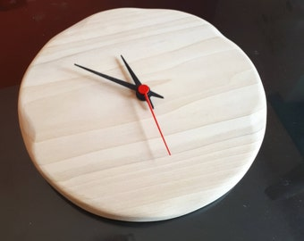 Wooden Wall Clock •  Natural Toulipier