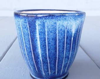 Blue Striped Cup