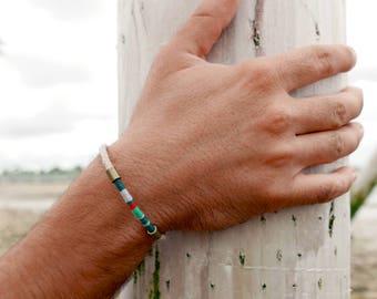 Man bracelet, Clothing gift nautical bracelet for mens, Men simple bracelet,  Rope bracelet for coworker gift, Boyfriend christmas gift