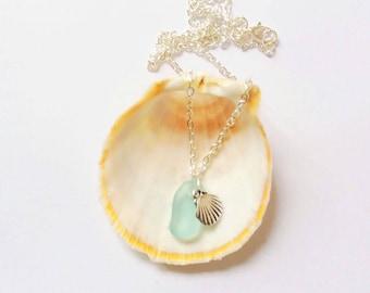 Sea Glass Jewelry Mermaid Jewellry Beach Glass Necklace Sea Glass Jewelry Beach Wedding Jewelry Beach Bridesmaid Necklace- Sea Glass Pedant