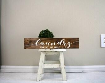Laundry sign, laundry wood sign, laundry decor, laundry room decoration, laundry wooden sign, custom wood sign, custom wooden signs